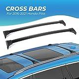 BougeRV Car Roof Rack Cross Bars for 2016-2021 Honda Pilot with Side Rails, Aluminum Cross Bar Replacement for Rooftop Cargo Carrier Bag Luggage Kayak Canoe Bike Snowboard Skiboard