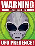 Forry Warning UFO Presence Metall Poster Retro