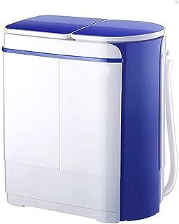 JJSFJH Lavado automático Mini portátil Compacto Doble Barril desecan el Centrifugado de lavandería Máquina