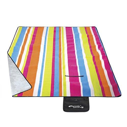 Spokey® picknickdeken stranddeken voor een mooie landpartij diverse ontwerpen + UP® stickers, designs: PICNIC RAINBOW - 831332