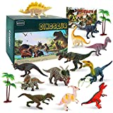 BeebeeRun Juego de Dinosaurios,Figura de Dinosaurio 15 PCS Dinosaurios de Juguete Set Regalo para Chicos Niños