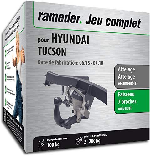 Rameder Pack, attelage escamotable + Faisceau 7 Broches Compatible avec Hyundai Tucson (137159-14316-1-FR)
