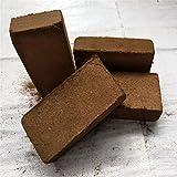 SqSYqz 5Pcs Coconut Coir, Coco Bale 0,6 kg 100% Kokos Kokosfasern, Kokos Chaff Compressed Coconut...