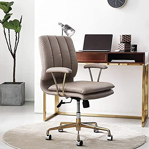 HYLX Silla Silla de Oficina en casa, Respaldo Silla de Jefe Silla de Escritorio con Elevador Giratorio, Silla de computadora Simple Silla de Estudio