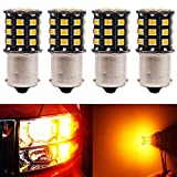 BlyilyB Amber 1156 2835 33SMD LED Light bulbs 1141 1259 For Car Backup Parking Tail Light (Pack of 4)