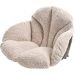 jannyshop Warm Winter Plush Thermal Hip Lifter Cushion Thicker Waist Support Tatami Chair Mat Cold-Resistant Office Student Seat Cushion Beige