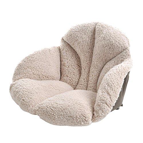 Coussin d'assise en Peluche, Plus épais Taille Support Tatami Chaise Taie d'oreiller avec Attaches sciatique Dorsale pour Adulte et Enfant