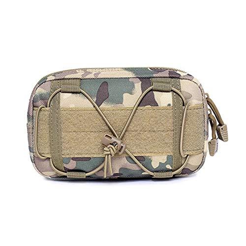 Outdoor Jagd Taktische Tasche militärische Tarnung Molle Kettle Bag Sport wasserdichte Taille Tasche (Color : CP)