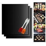 Binhai BBQ Grill Mat & Grill Brush, bbq Grill Mats Non Stick Reusable