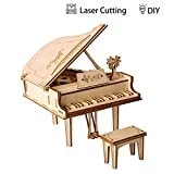 3D Grand Piano Wooden Jigsaws Kit Wooden Puzzles DIY Hand Craft Mechanical Toy Gift for Kids Teens Adults