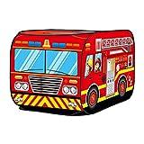 Bulary Kids Pop Up Spielzelt Spielzeug Faltbare Spielhaus Tuch Simulation Feuerwehrauto Simulation...