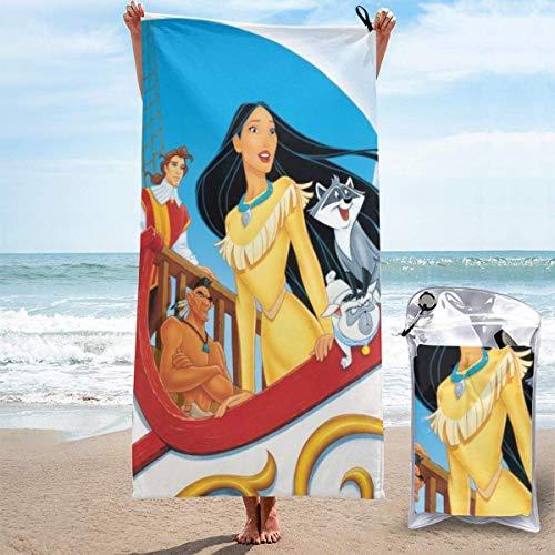 Hdadwy Toalla de baño Pocahontas Toallas de baño Microfibra Suave Secado rápido Viaje Playa Camping Yoga Gimnasio Piscina Baño 27.5x55 Pulgadas