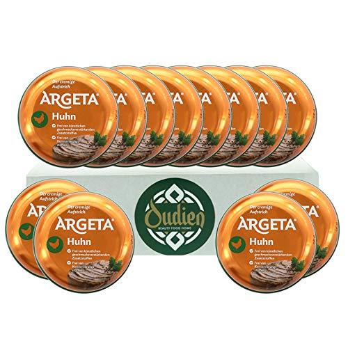 OUDIEN Set 12x 95g Argeta Brotaufstrich Huhn, cremiger Aufstrich, Pastete aus natürlichen Zutaten