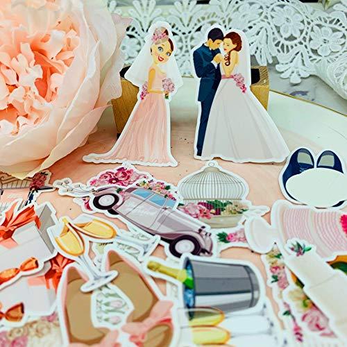 Leuke Bruiloft Patroon Papier Stickers Voor Kinderen Zelfgemaakte Boek Stickers Op Laptop/Decoratieve Scrapbooking / Diy28 Stks