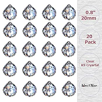 MerryNine Clear Crystal Ball Prism Sun Shine Catcher Rainbow Pendants Maker Hanging Crystals Prisms for Windows for Feng Shui for Gift  0.8 /20mm 20Pack