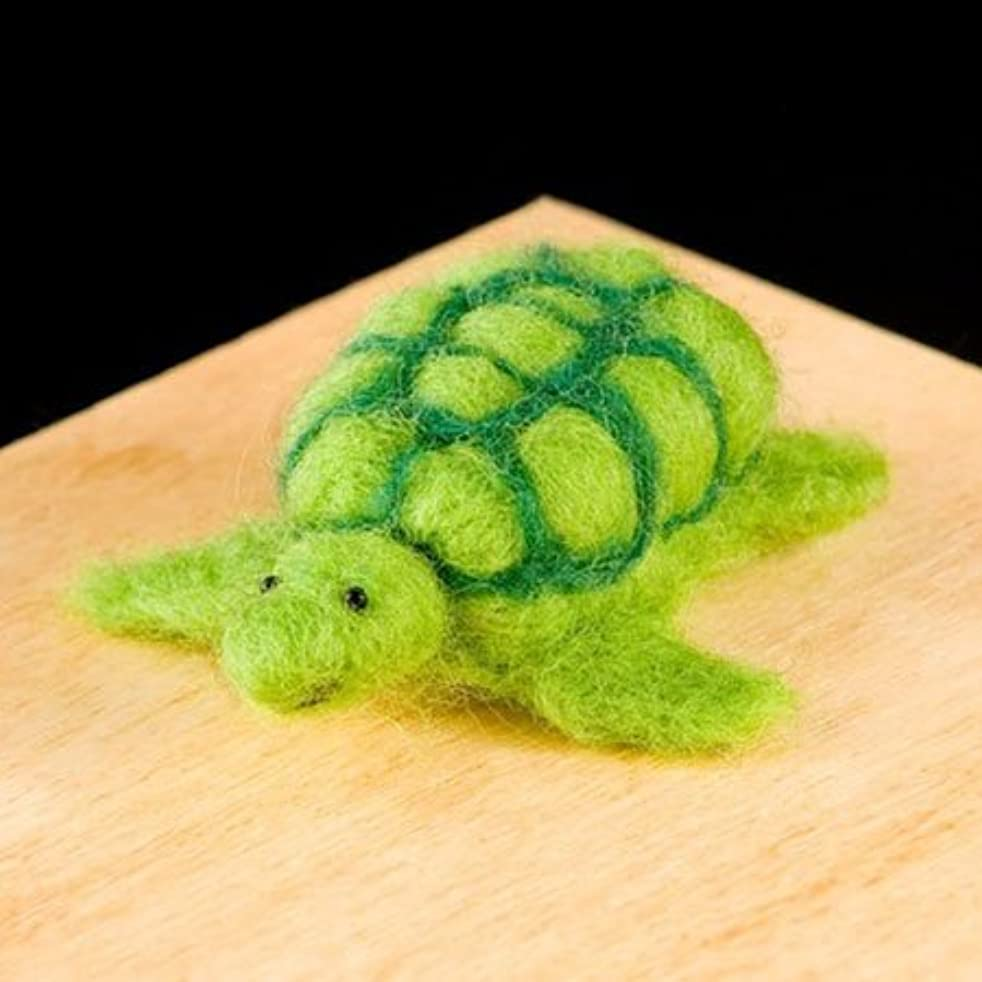 WoolPets Turtle Wool Needle Felting Craft Kit Made in The USA.