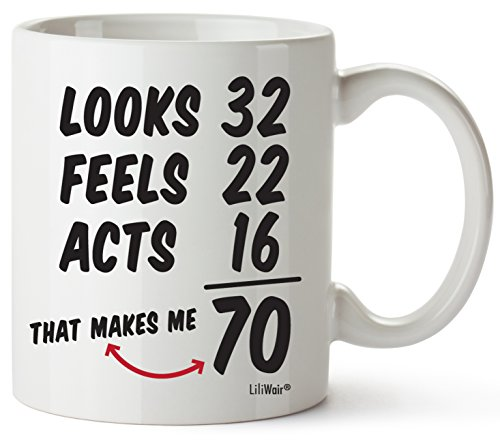 70th Birthday Gifts For Women Seventy Years Old Men Gift Mugs Happy...