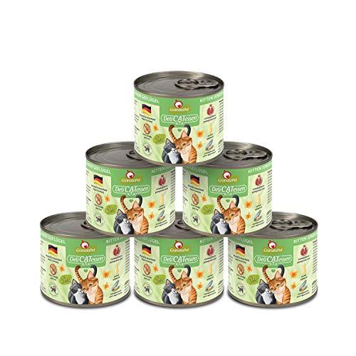 GranataPet Delicatessen Kitten/Junior Geflügel, Nassfutter für Katzen, Katzenfutter für Feinschmecker, Futter ohne Getreide & ohne Zuckerzusätze, 6 x 200 g