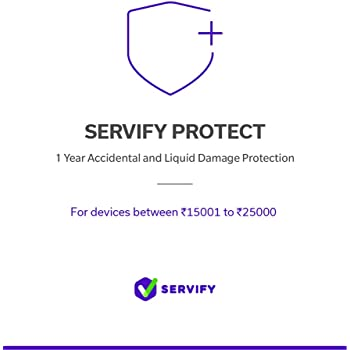 Servify Protect - 1 Year Accidental and Liquid Damage Protection Plan for Mobile Phones Between Rs.15001 to Rs.25000