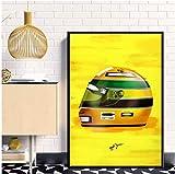 Refosian Ayrton Senna F1 Helme Rennwagen Poster Malerei