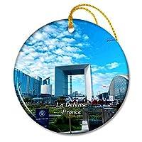 ラディフェンスフランスラグランデアルケクリスマスオーナメントセラミックシート旅行お土産ギフト