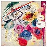 JH Lacrocon Pinturas a Mano Lineas Negras 1913 de Wassily Kandinsky - 120X120 cm Reproducción Lienzo Abstracto Poster Enrollado
