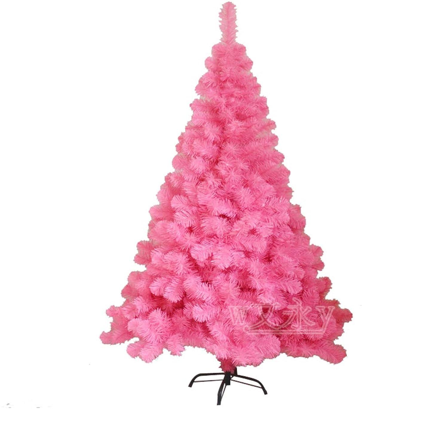 寛大な破裂スプリットプレミアム 人工クリスマスツリー, ツリーアンライト トウヒ ヒンジ クリスマスツリー エコ-フレンドリー と 固体の金属製の脚 ホーム デコレーション-ピンク 180cm(71inch)