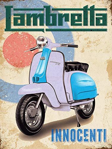 HALEY GAINES Lambretta Motorbike Scooter Wandtinnen Tekenen Decor Metalen Plaques Waarschuwing Merk IJzer Schilderen Voor Bar Koffie Huis keukens Badkamers Garages 20 * 30cm