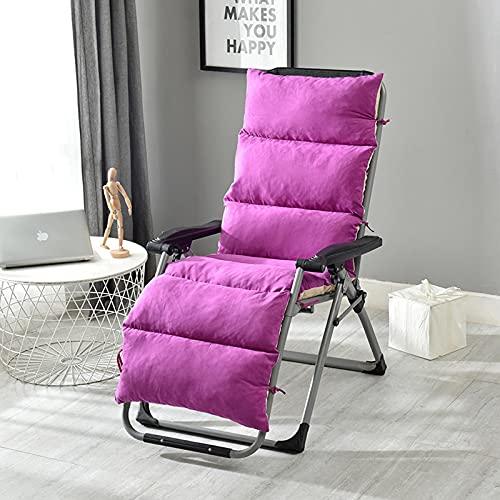 Cojín de repuesto para tumbona, cojín de repuesto para tumbonas, con diseño antideslizante, para asiento de silla relajante, funda de silla para jardín interior, 175 x 50 cm