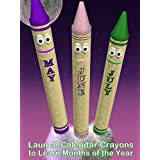 Launch Calendar Crayons to Learn Months of the Year