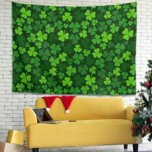 Tapiz de pared con diseño de San Patricio, color verde, 150 x 150 cm