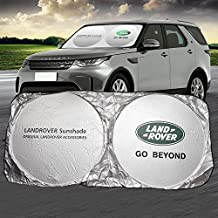 Land Rover Car Windshield Sun Shade Front Window Windshield Blocks UV Rays Sun Visor Protector Sunshade fit for Land Rover Defender Discovery 3 4 Range Rover Sport Discovery evoque