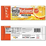 InstaKetones 11.7g GoBHB Per Protein Bar (Orange Burst)...