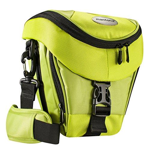 Mantona Colt DSLR Kamera Tasche für Spiegelreflex, SLR, Kompaktkamera, Systemkamera, Schultertasche Umhängetasche mit Platz für Zubehör, wasserdicht, hellgrün