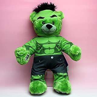 [Build-A-Bear 17 inches MARVEL Marvel Avengers Hulk Bear & Costume Set] Birudoabea genuine bear stuffed toy HULK [parallel import goods]