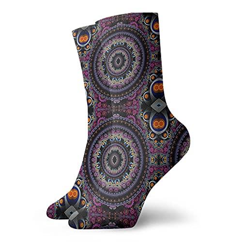 Calcetines de tobillo de ojo de mandala para hombres y mujeres divertidos calcetines de compresión atlética