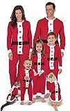 PajamaGram Matching Christmas Pajamas for Family - Santa Suit, Red, Pets, XS