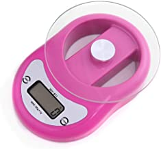 Electronic Scale Scale Kitchen Scale Baking Scale Portable Tea Weighing 5kg Cake Flour Scale for Home, Kitchen, Baking LWWOZL (Color : Pink)