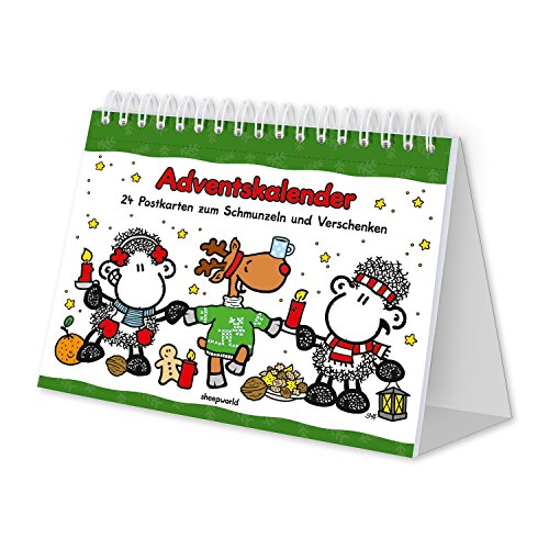 sheepworld 49589 Postkarten Adventskalender