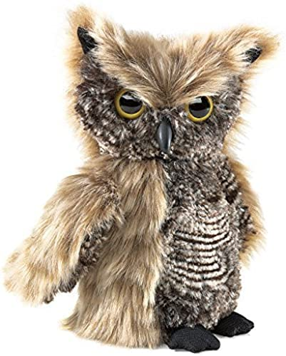 Folkmanis Screech Owl with Turning Head Hand Puppet by Folkmanis (English Manual)