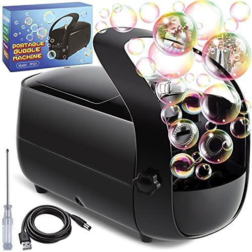 Bubble Machine, Automatic Bubble Maker Portable Bubbles Blower Machine for Parties Indoor Outdoor...