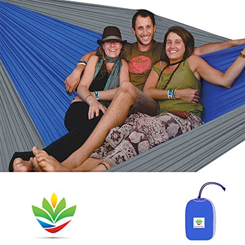 """Hammock Bliss Triple - The Largest Portable Hammock on Planet Earth - Best Hammock for Couples, Great for Tall People, Ideal for Families - Quality You Can Trust - 100"""" / 250 cm Rope Per Side Included"""