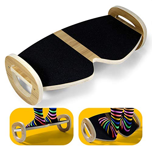 Yes4All Rocker Balance Board, Foot Rest Under Desk, Non-Slip, Ergonomic Pressure Relief for Posture Support, Home, Office Use (19Wx11L)