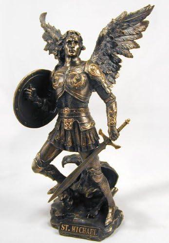 Archangel Saint Michael Statue Real Sculpture Cast We Sales for sale OFFer at cheap prices Powder Bronze