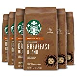 Starbucks Medium Roast Ground Coffee — Breakfast Blend — 100% Arabica — 6 bags (12 oz. each)
