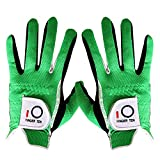 Golf Gloves Men Rain Grip Pair Both Hand Left Right Lh Rh Weathersof No Sweat, All Weather Soft Comfortable Mens Glove Gray Green Size Small Medium Large XL (Green, Small)