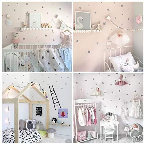 WandSticker4U 60 estrellas plata pegatinas de pared Niños-Habitación-Bebés