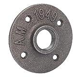 Brida de base 85 mm Estándar 4 agujeros DN20 Brida de tubería Base de brida Base de tubería o Instalación de desagüe de ducha cuadrado y lineal para el hogar