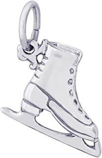 Sterling Silver Ice Skate Charm (11 x 14 mm)