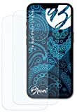 Bruni Película Protectora Compatible con Apple iPhone 13 Pro MAX Protector Película, Claro Lámina Protectora (2X)